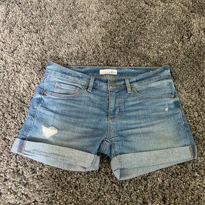 Loft denim distressed Jean shorts